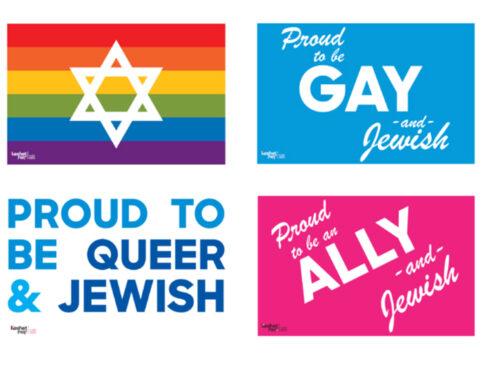 LGBTQ Jewish Pride Signs