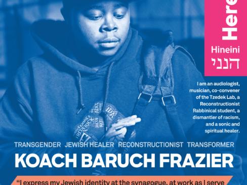 Rabbinical Student Koach Baruch Frazier named LGBTQ Jewish Hero by Keshet