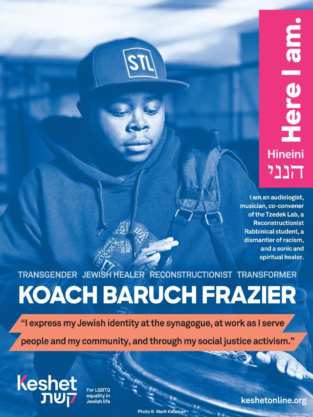 KB Frazier LGBTQ Jewish Hero poster