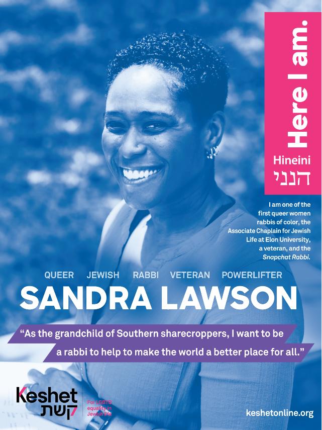 Sandra Lawson LGBTQ Jewish Hero poster