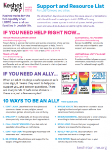Youth Support and Resource List Flyer