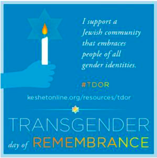 Observing Transgender Day of Remembrance in the Jewish Community